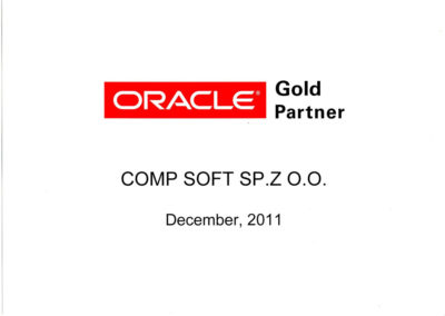 ORACLE Gold Partner 2011