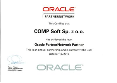 ORACLE GoldPartner 2010