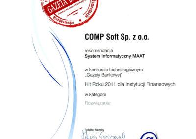 Rekomendacja Gazety Bankowej 2011